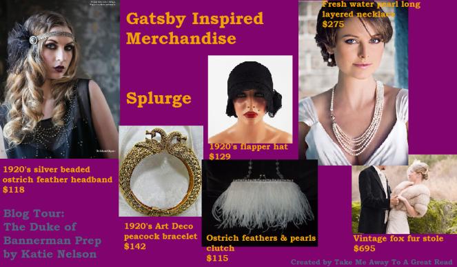 Gatsby splurge board